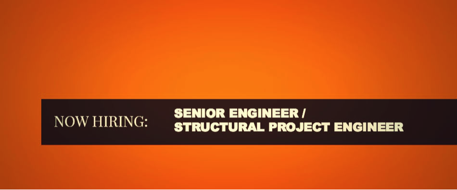 image of AMG now hiring sign for Structural Engineer
