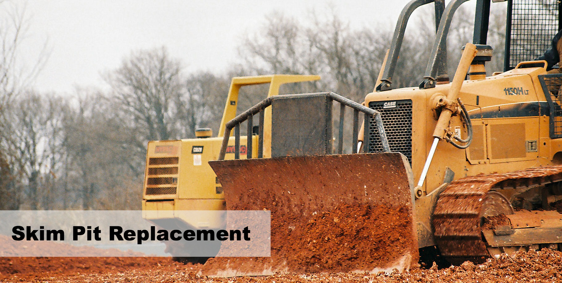excavator clearing soybean plant