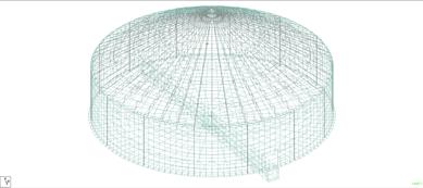 Figure 2 - STAAD Model