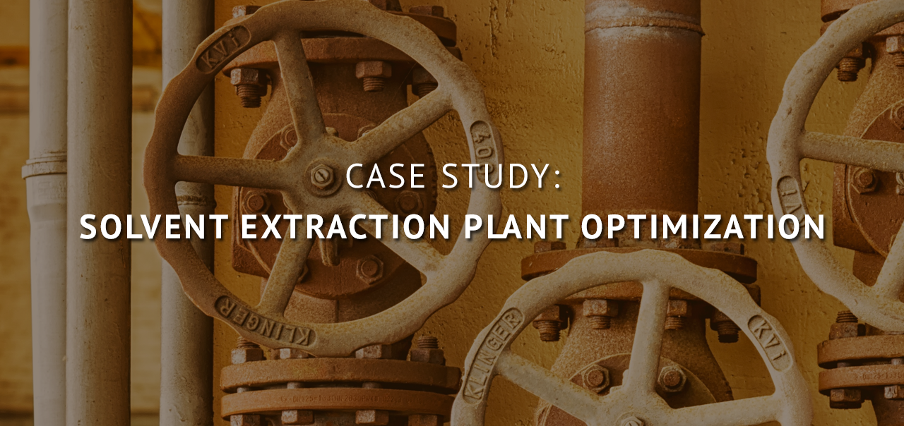 Solvent Extraction Plant Optimization: Case Study