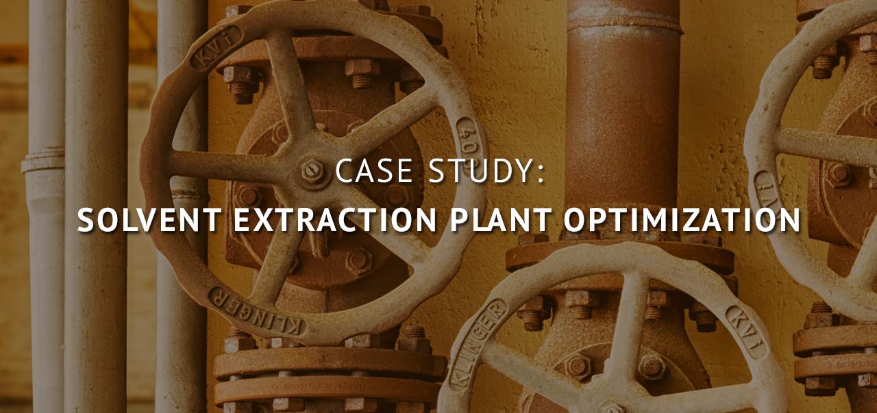 Solvent Extraction Plant Optimization: Case Study